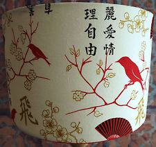 Asianoriental lampshades ebay shabby chic lamp shadelampshade chinese bird red and white free gift mozeypictures Choice Image