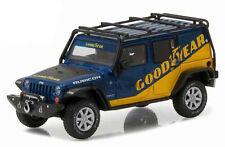 2016 BLUE JEEP WRANGLER UNLIMITED ROOF RACK GOOD YEAR 1/43 SCALE BY GREENLIGHT