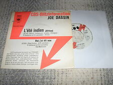 JOE DASSIN 45 TOURS GERMANY PROMO L'ETE INDIEN