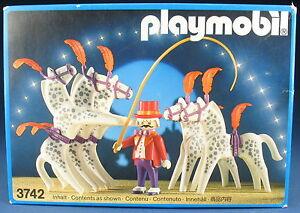 PLAYMOBIL 3742 - Zirkus Pferde Dressur - Circus - 1987 - NEU & OVP - New MISB