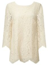Somerset by Alice Temperley Scalloped Lace Top Cream UK 6