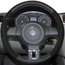 Replace Steering Wheel Cover Wrap for 10-14 Volkswagen VW Jetta Golf Caddy Polo