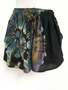 Tie Dye Harem Shorts Pants Boho Bohemian Batik Gypsy Beach Hippie Unisex DSTD