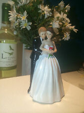 Romantic Wedding Cake Topper of Bride and Groom
