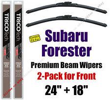 Wipers 2-Pack Premium Wiper Beam Blades fit 2009-2013 Subaru Forester 19240/180