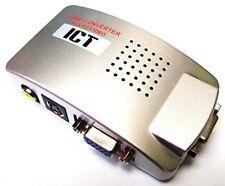 Convertitore Video da Pc a Tv, Convertitore da VGA a RCA,VGA to RCA Video Conver