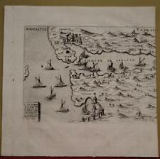 NAFPAKTOS (LEPANTO) GREECE 1713 LASOR A VAREA ANTIQUE COPPER ENGRAVED MAP