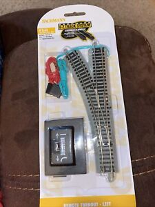 L157 BACHMANN N SCALE E-Z TRACK REMOTE LEFT HAND SWITCH BAC 44861 NEW