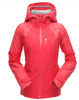 SPYDER GTX Inna Ski Jacket Hooded Ladies Red Size UK 10 (M) *REF156