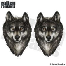 Gray Wolf Decal Sticker SET Lone Wolves Timber Pack Alaska Vinyl EMV