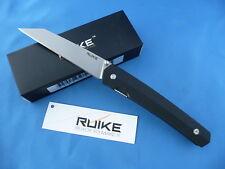 Ruike P865-B Compact Lightweight EDC Knife Black G-10 14C28N Stainless