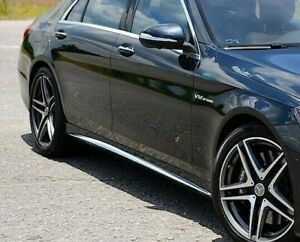 Mercedes-Benz OEM Chrome Side Skirt Trim S Class Sedan W222 2014-2020 Brand New