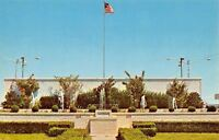 Rehoboth Delaware~US Flag Flies Over Fountains~1960s Postcard