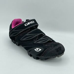 Giro Womens Riela Black Leather 2 Bolt Cycling Shoes Low Top Size 7.5