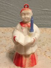 Vintage Christmas CHOIRBOY w CANDLE Ornament