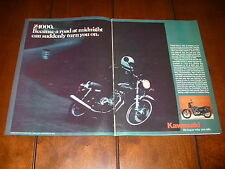 1977 KAWASAKI KZ1000 - A ROAD AT MIDNIGHT Z1000  -  ORIGINAL 2 PAGE AD