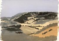 TONY STREEK Watercolour Painting IMPRESSIONIST ENGLISH LANDSCAPE c1980's