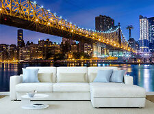 Queensboro Bridge Wall Mural Photo Wallpaper GIANT DECOR Paper Poster Free Paste
