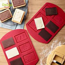 Chrismas Silicone Cookies Cutter Chocolate Cake Biscuit Pasry Decor Mold Mould