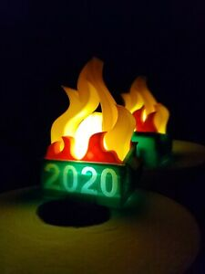 2020 Dumpster Fire Hangable Christmas Ornament, Perfect gift! Light INCLUDED!
