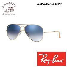 Occhiali Da Sole Ray-Ban Aviator Gradient RB3025 Oro Lenti Azzurro Sfumate 58-14