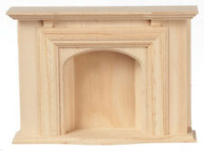 Miniature Dollhouse Unfinished Fireplace 1:12 Scale New
