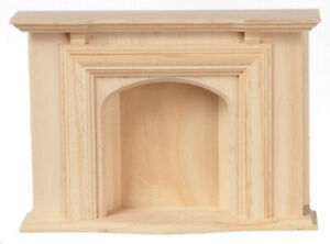 Miniature Dollhouse Hoseworks Unfinished Fireplace 1:12 Scale New