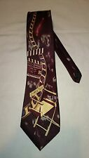 Taylor & Butler Men's Tie in Burgundy with a Director's Chair in Relief