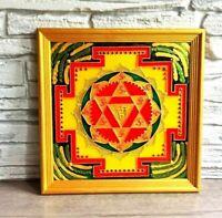 Kubera Yantra painted on glass Handmade paintings Hindu Yantras Wedding gift