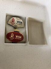 2008 BEIJING OLYMPIC GAMES Collectible PIN BAGDE VISA SPONSOR