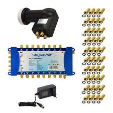 SkyRevolt SAT Multischalter Set 16 Teilnehmer 5/16 Multiswitch Quattro LNB HD 4K