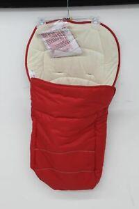 HAUCK Cosy Toe 2 Way Red Reversible Fleeced Footmuff For Baby Stroller NEW