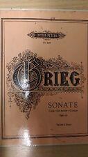 CRATERE GRIEG: SONATA in Sol Maggiore: OPUS 13: musica Score