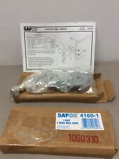 New Safco 2 Hook Chrome Wall Rack 4160-1 Quantity of 2 New in Box