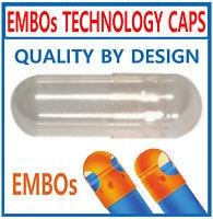 EMPTY GELATIN CAPSULES BULK - Size 0, 2000 Clear Caps KOSHER HALAL USA Quality