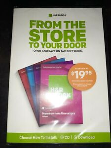 H&R Block Homeowners/Investors Deluxe Tax Software (PC, Mac, 2018) NEW!!!