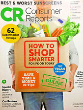 CONSUMER REPORTS Magazine JULY 2017 Guide To Online Grocers TOP VEGAN OPTIONS