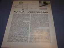 VINTAGE..TESTOR 8000 AIRCRAFT R/C ENGINE..1-VIEWS/GRAPHS/SPECS..RARE! (731P)