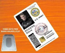 CAPTAIN AMERICA (Steve Rogers) US ARMY ID CARD / BADGE PROP - PVC Plastic ID