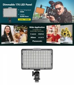 Neewer Camera Video Light Photo Dimmable 5600K 176 LED Panel DSLR From Japan EMS