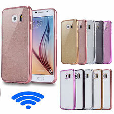 Shockproof Luxury Metal Effect Bumper Gel Case Cover for Samsung Galaxy Phones