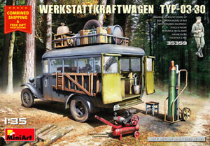 Miniart 35359 - 1/35 - WERKSTATTKRAFTWAGEN TYP-03-30. Mobile auto repair shop