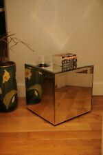 Decadent art deco / hollywood regency beveled mirror cube table - well executed