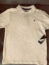 Boys Size XL -7X Nautica NWT! 100% Cotton Grey Polo Shirt!