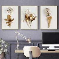 Golden Flower Canvas Painting Canvas Wall Art Wall Decor Prints Wall Poster Art