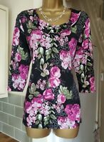 NEW WOMAN/'S FLORAL BERRY IVORY KHAKI AUBERGINE TOP SIZES 10 12 14 16 18 22