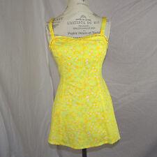 True Vintage The Lilly Pulitzer Mini Dress Yellow Orange Lt Green Small NWOT
