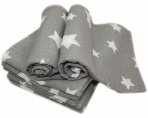 Beautiful LARGE Baby Super Soft Printed Muslin Squares 80x70cm 100% Real Cotton