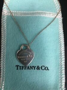 Tiffany & Co. Please return to T& Co N.Y. necklace 925 16in 3gr