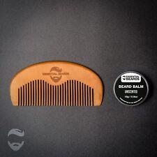Organic Beard Grooming kit Unscented Beard Balm, Beard Comb Made in UK
